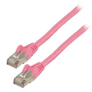 Patch kabel FTP CAT 6, 10 m, růžový
