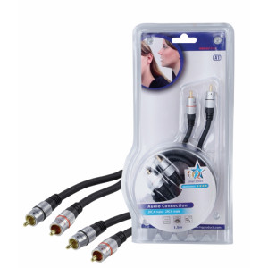 Vysoce kvalitní propojovací stereo cinch kabel 1.50 m