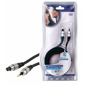 Kabel optický toslink <lt/>-<gt/> opt. jack 2.5m - profi