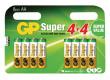 Baterie 1.5v lr06,aa alkalická gp super alkaline - 8ks