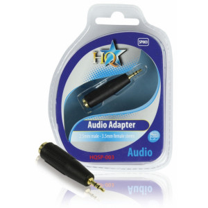 HQ - AUDIOADAPTER 2.5mm HANE - 3.5mm HONA STEREO