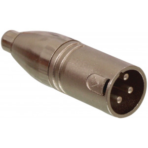 RCA male - 3p XLR male adapter