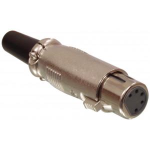 5p XLR female plug