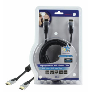 Kabel hdmi <lt/>-<gt/> hdmi high speed+ethernet - 2m