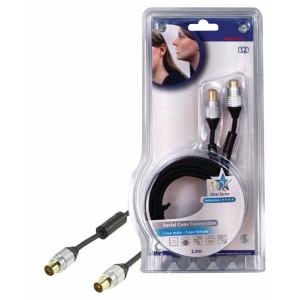 Účast tv kabel 2.5m m/f - 90db - profi