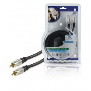 Kabel dig.video coax 75 ohm 2xrca 5m
