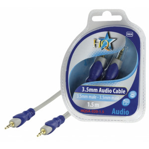 Standard kabel 3.5mm stereo (M) - 3.5mm stereo (M) 1.50 m