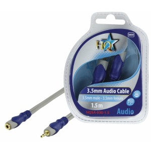 HQ - SILVER 3.5MM STEREO HANE - 3.5MM STEREO HONA-KABEL