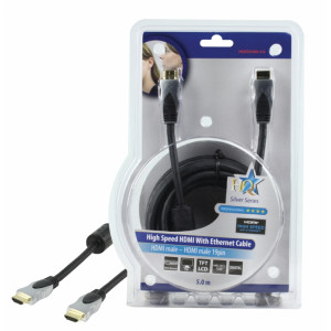Kabel hdmi <lt/>-<gt/> hdmi high speed+ethernet - 5m