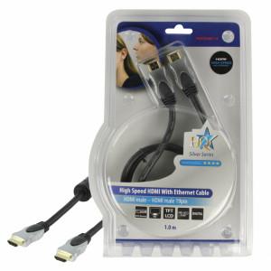 Kabel hdmi <lt/>-<gt/> hdmi high speed+ethernet - 1m