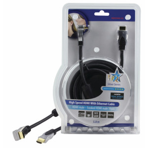 Kabel hdmi <lt/>-<gt/> hdmi high speed+eth.,úhlový - 5m