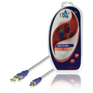 KABEL USB A - USB 4 PIN MINI 1.8m Doprodej