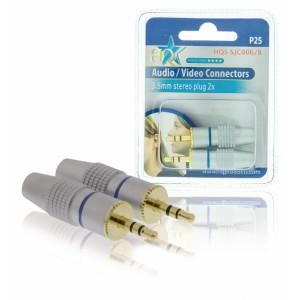 Konektor jack/m 3.5mm - zlacený, 2ks