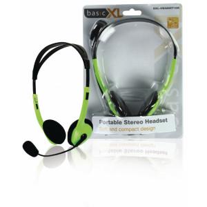 Stereo headset, zelený