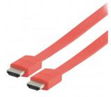 Kabel hdmi <lt/>-<gt/> hdmi high speed+eth., červený - 2m