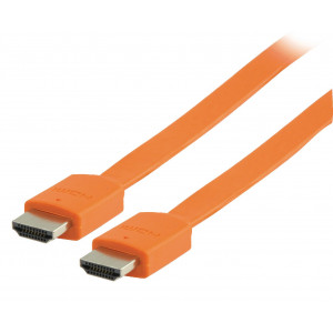 Kabel hdmi <lt/>-<gt/> hdmi high speed+eth., oranžový - 2m