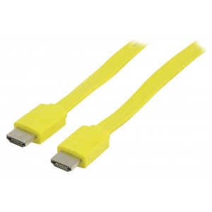 Kabel hdmi <lt/>-<gt/> hdmi high speed+eth., žlutý - 2m