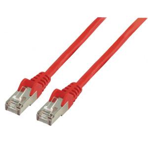 Patch kabel FTP CAT 5e, 0,25 m, červený