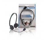 Souprava sluchátek + mikrofon k PC - černá