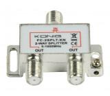 CATV F-rozbočovač 2 výstupy