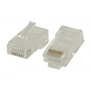 Konektory RJ45 pro UTP CAT 5 kabely s lankovými vodiči 10 ks