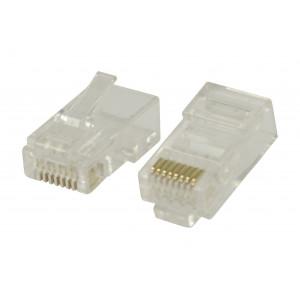 Konektory RJ45 pro UTP CAT6 kabely s lankovými vodiči 10 ks