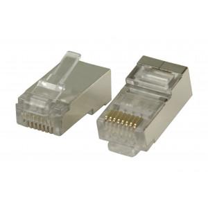 Konektory RJ45 pro STP CAT6 kabely s lankovými vodiči 10 ks