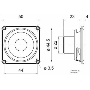 Širokopásmový reproduktor 5 cm (2