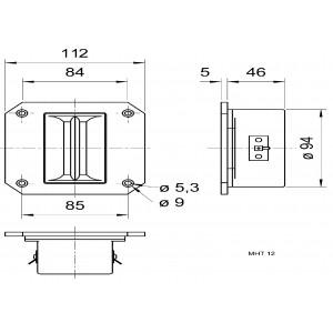 Výškový reproduktor 8 Ohm