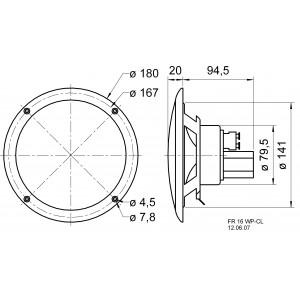 Reproduktor odolný vůči chlorované vodě 16 cm (6.5