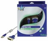 HQ - Standard audio/video-kabel HDMI hane 19p - DVI-D hane 10.0 m