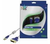 Standard audio/video-kabel HDMI hane 19p - DVI-D hane 15.0 m