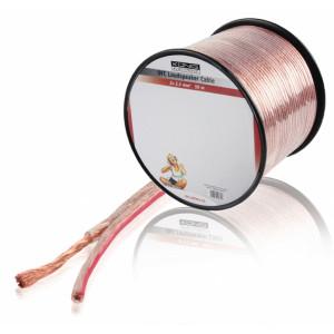 OFC reproduktorový kabel 2x 2.5 mm² na cívce 50 m, transparentní