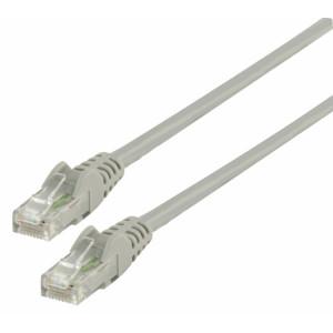Patch kabel UTP CAT 6, 1 m, šedý