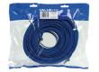Plochý patch kabel FTP CAT 6, 20 m, modrý