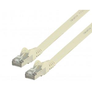 Plochý patch kabel FTP CAT 6, 1 m, bílý
