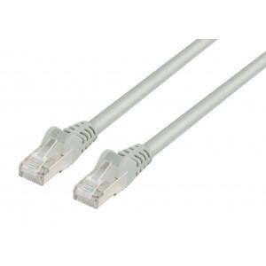 LSZH patch kabel FTP CAT 6, 1 m, šedý