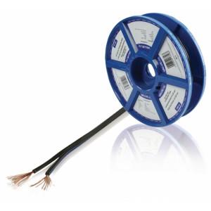 Černý reproduktorový kabel 2x 0.35 mm² 100 m