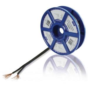 Černý reproduktorový kabel 2x 0.50 mm² 100 m