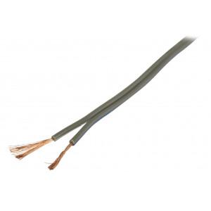 Šedý reproduktorový kabel 2x 0.75 mm² 100 m