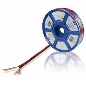 Černý/červený reproduktorový kabel 2x 0.75 mm² 100 m