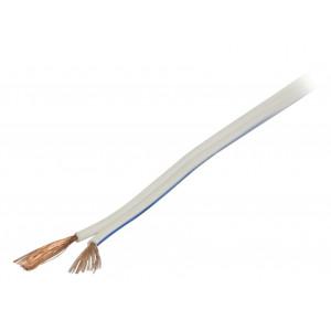 Bílý reproduktorový kabel 2x 0.75 mm² 100 m