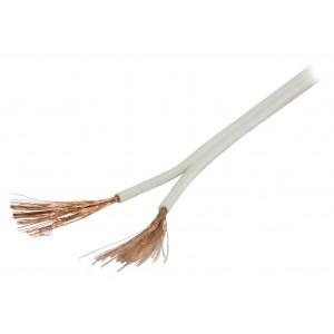 Bílý reproduktorový kabel 2x 1.50 mm² 100 m