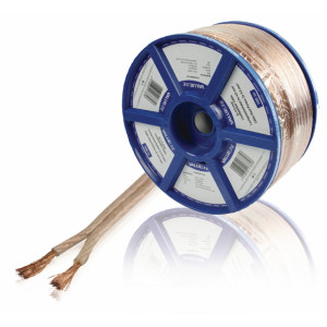 Transparentní reproduktorový kabel 2x 4.0 mm² 100 m