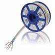 Síťový kabel s lankovými vodiči CAT5e F/UTP na cívce, 100,0 m, šedý