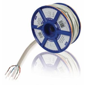 Síťový kabel s drátovými vodiči CAT6 UTP na cívce, 100,0 m, šedý