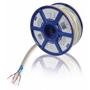 Síťový kabel s lankovými vodiči CAT6 F/UTP na cívce, 100,0 m, šedý