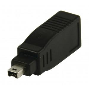 FireWire adaptér 6-pin zásuvka na 4-pin zástrčka