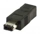 FireWire adaptér 4-pin zásuvka na 6-pin zástrčka