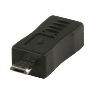Adaptér USB 2.0 so samičím konektorom USB mini B a samčím konektorom USB micro B